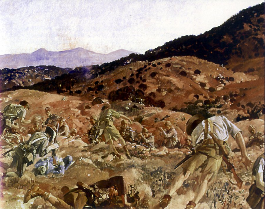The_charge_of_the_3rd_Light_Horse_Brigade_at_the_Nek_7_August_1915